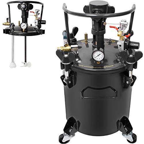 VEVOR Pressure Pot 5Gal Pressure Pot Paint Sprayer 20L Pressure Feed Paint Pot Tank Mixer Sprayer Regulator Automatic Air Agitator Stirrer