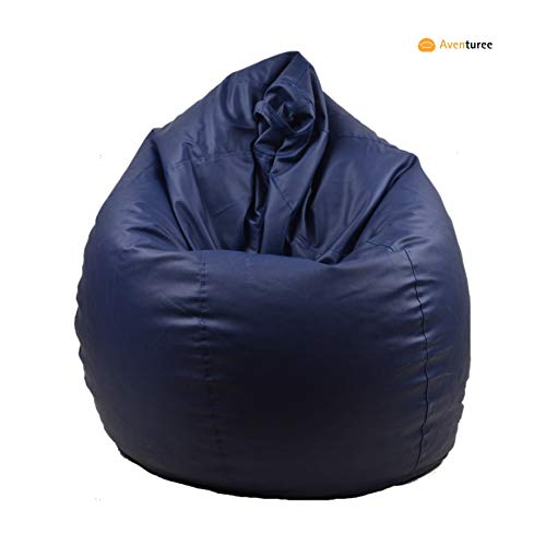 Aventuree's Classic Bean Bag Filled with Beans/Fillers (Filled with Beans),Colour-Navy Blue,Size-XXXL
