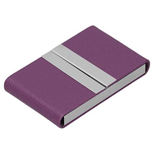 Caja de almacenamiento de tarjetas de visita Portatarjetas de nombre de gran capacidad y durabilidad ultradelgada, para empresas, para(purple, 400#)