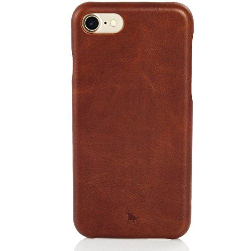 BULLAZO Menor Classic, hochwertige Handyhülle, Hülle, Hülle, Backcover echt Leder, Kompatibel mit Apple iPhone SE 2020, 7 & 8 in braun