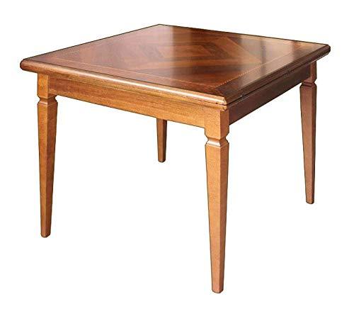Arteferretto Table de Salle à Manger carrée 100-200 cm