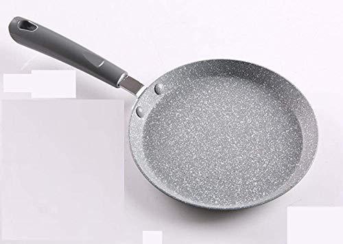 Wok Non Stickbratpfanne Milchpfanne Haushalt Maifan Stein mit Flachem Boden Antiehaft-Bratpfanne Gassherd-Kocher Universal-22cm