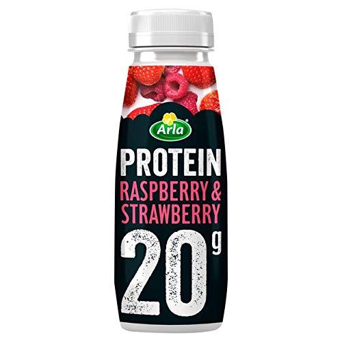 Arla Protein Raspberry & Strawberry Milkshake 225ml (Pack of 8)