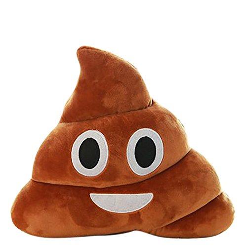 VelvxKl Emoticon Emoji Morbido Divertente Cuscino Cuore Occhi Poo Forma Cuscino Bambola Giocattolo Regalo Vendita Liquidazione Smile
