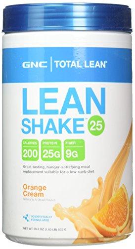 GNC Total Lean Lean Shake 25 - Orange Cream NET WT 29.3 OZ