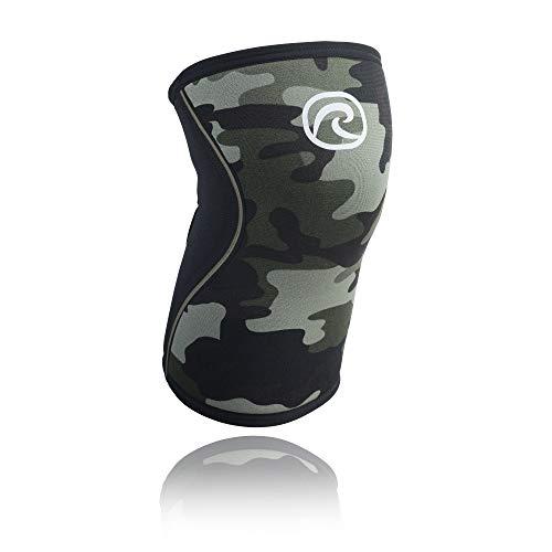 Rehband Kniebandage Neopren 5 mm - Rodillera de voleibol, Camuflaje, S