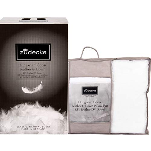 Surrey Down Die Zudecke Hungarian Goose Feather And Down Set - 13.5 Tog KING SIZE Duvet/Quilt With Pillow Pair