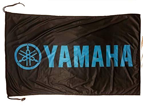 Beautiful Flag Wunderschöne Flagge von Yamaha, 6,4 x 1,5 m, Schwarz