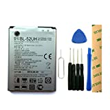 for T-Mobile LG Optimus L70 AS323 Replacement Battery BL-52UH Free Adhesive Tool