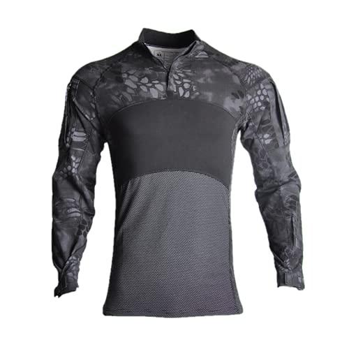 Camisas tácticas de caza al aire libre de los hombres camisetas de combate suave transpirable