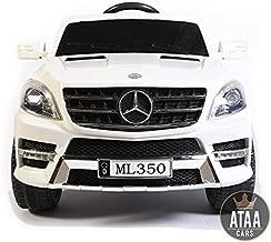 ATAA Mercedes ML350 Licenciado batería 12v - Blanco - Grandes Dimensiones 110*67*53cm