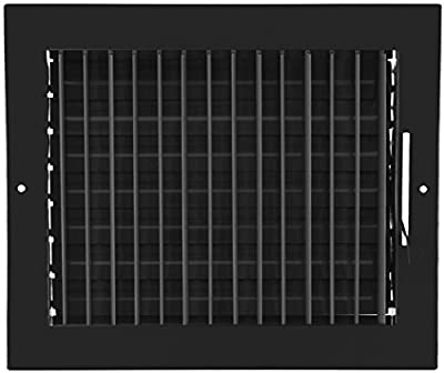 """10""""w X 8""""h Adjustable AIR Supply Diffuser - HVAC Vent Cover Sidewall or Ceiling - Grille Register - High Airflow -"""