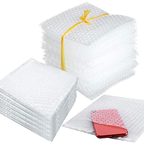 WJMY Papel de burbujas para embalaje, 50 unidades, para mudanza, protección para muebles, vajilla y vasos (20 x 20 cm)
