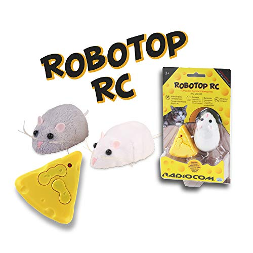 ODS Radiocom RoboTop Topolino radiocomandato, Colore bianco, grigio, 40600