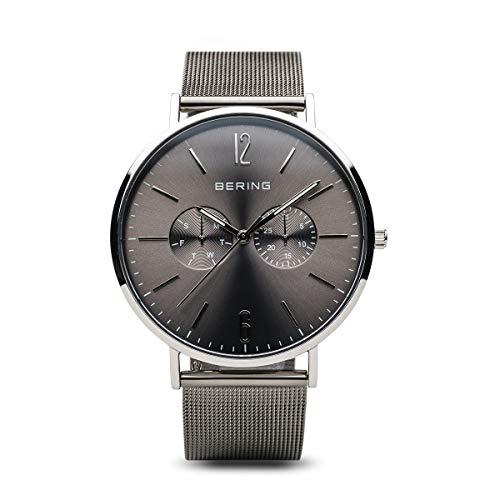 BERING Herren Analog Quarz Classic Collection Armbanduhr mit Edelstahl Armband und Saphirglas 14240-308