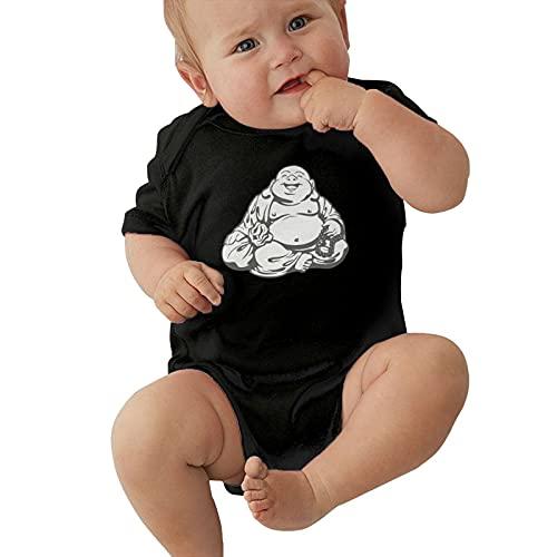 David01 Infant Climbing Short Sleeve Onesies Maitreya Buddha Baby Bodysuits Cotton Jumpsuit Clothes 6 Months Black