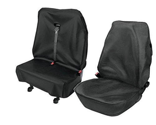 Pitshop24 (602266FD) Transporter Kunstleder Sitzbezüge Werkstattbezug Fahrersitz Doppelbank