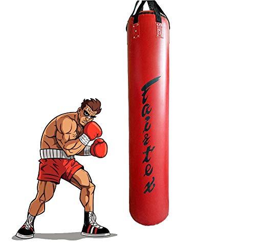 ALTINOVO Hängender Boxsack, Hohl Boxsack, Fitnessgeräte Hängender Sandsack Verstärkung Geeignet Für Erwachsene Und Kinder, Ideal Zum Stressabbau,Rot,170cm