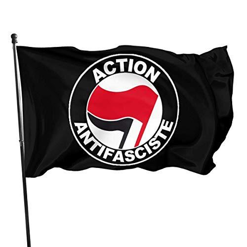 Bandera Acción An-Ti-FA Bandera Protesta Bandera al Aire Libre Banderín Casa Banderas