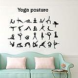 Kreative Yoga Pose Wandaufkleber Vinyl Kunst abnehmbare