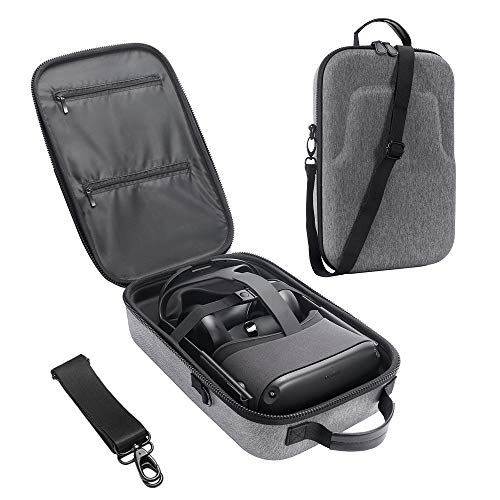 New HIJIAO Hard Travel Case for Oculus Quest VR Gaming Headset and Controllers Accessories Waterproof Shockproof Carring case (Gray)