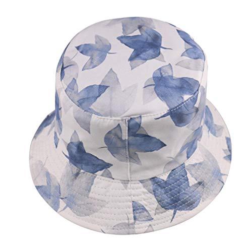 Sombrero De Copa Star Print Black Bucket Hat Sun Gorras De Pesca Mujeres Hombres-H