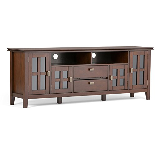 SIMPLIHOME Artisan SOLID WOOD Universal TV Media Stand, 72 inch Wide,...