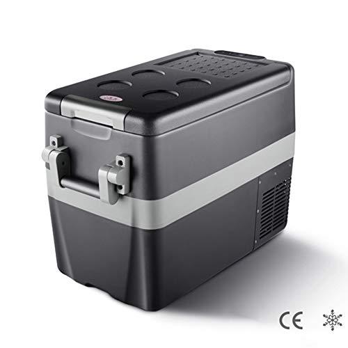 ADHW 40L Nevera Termoeléctrica Portátil Con Compresor 12v 240v Enfriamiento Rapido Refrigerador,Por Debajo de la Temperatura Ambiente 18 ° C,ECO Ahorro de Energia, Seguro,Proteger la Batería del Autom