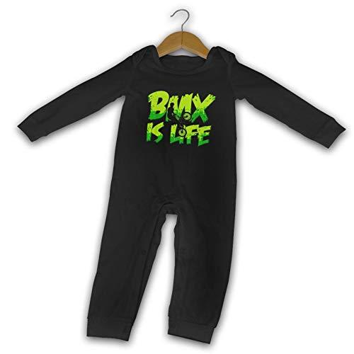 BMX is Life Extreme Sports Fahrrad Long Comfort Baby Crawler schwarz Gr. 6 Monate, Schwarz