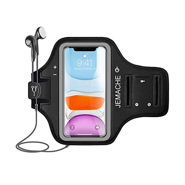 iPhone 11/XR Armband, JEMACHE Water Resistant Gym Running Workouts Exercises Arm...