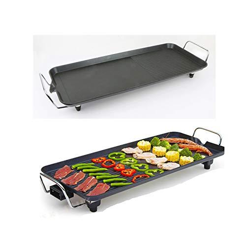 Teppanyaki-Grill 1500W mit Antihaftbeschichtung Elektrische Plancha-/Teppanyaki-Grillplatte BBQ Grill Tischgrill verstellbare Temperatur, L: 67x29.5x8.5cm