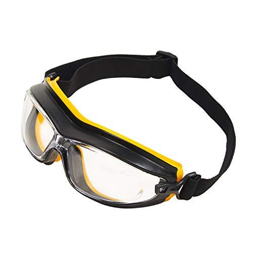 Babimax Gafas de trabajo de seguridad industrial Gafas deportivas de protección ocular con lentes transparentes antideslizantes resistentes a los arañazos y lentes antideslizantes