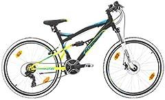 Bikesport Parallax Bicicleta De montaña Doble suspensión 26 Ruedas, Shimano 18 velocidades