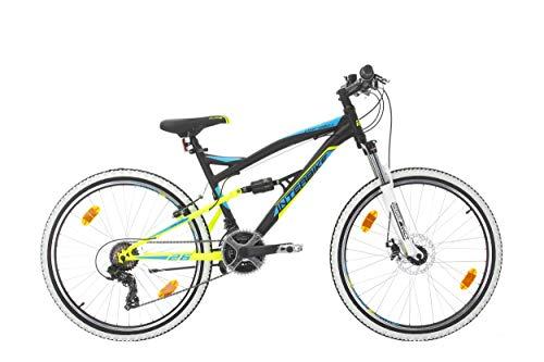 Bikesport Fahrrad MTB Mountainbike Fully Full Suspension 26 Zoll Parallax Shimano 18 Gang (Schwarz Blau)