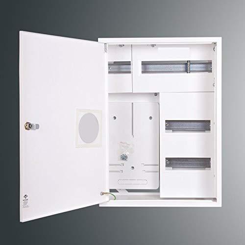 Zählerschrank Sicherungskasten Verteilerkasten AUFPUTZ 3 PHASEN 36 Sich. IP30 m. Fenster