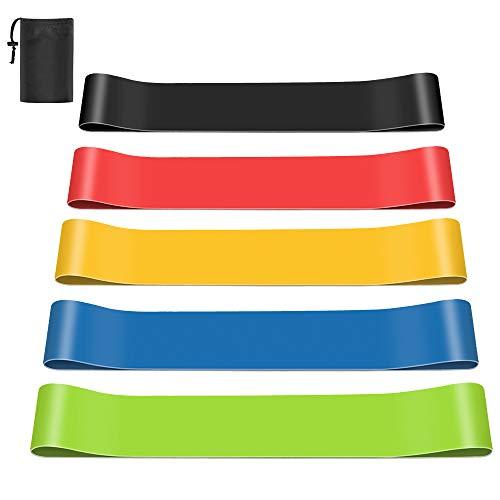 Newdora Bandas Elasticas de Fitness, [Set de 5] Loop Bandas elésticas de...
