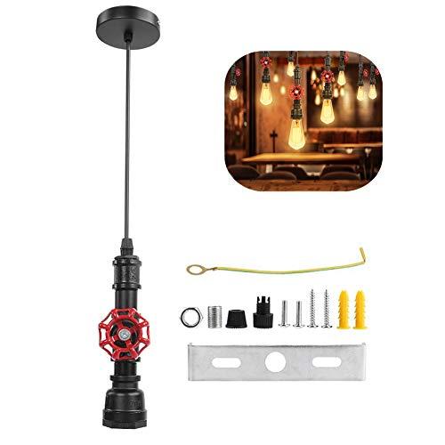 Industriële Vintage Plafondlamp Pijp, 85-265V E27 Vintage LED Kroonluchter Industriële Pijp Hanglamp Plafondlamp voor Eetkamer Bar Kroonluchter