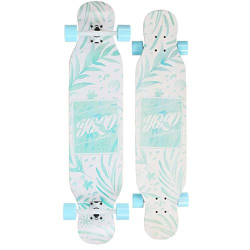 TYXTYX Complete Longboard Skateboard 110x25cm 8 Layers Maple Deck Longboard Skateboard,Board Cruiser Professional Longboard - Dance Longboard Adults,Boys/Girls/Youth