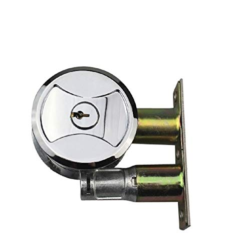 Keyed Pocket Door Lock CL4ENTR Polished Chrome
