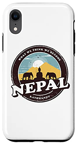 iPhone XR Nepal Kathmandu Buddha Statue Elephants Vintage Gift Case