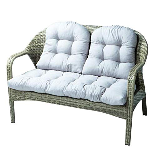 ZMRRXR - Cojín reclinable de algodón para sofá o ventana, tres piezas para balcón interior o exterior, color gris