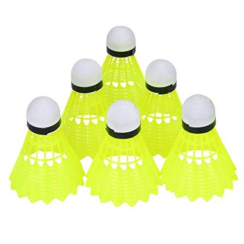 VGEBY Badminton Ball, 6 Teile/Satz Durable Nylon Shuttlecock Indoor Outdoor Ausrüstung für Badminton Training Üben