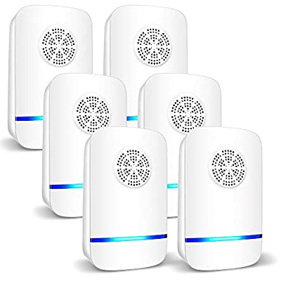 6 Packs Ultrasonic Pest Repeller, 2020 Electronic Pest Repellent Plug in Indoor Pest Control for Insect, Roach, Mice, Spider, Ant, Bug, Mosquito Repellent for House, Garage, Warehouse, Office, Hotel