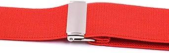 Unisex Braces Plain Colour Wide Heavy Duty Adjustable Suspender