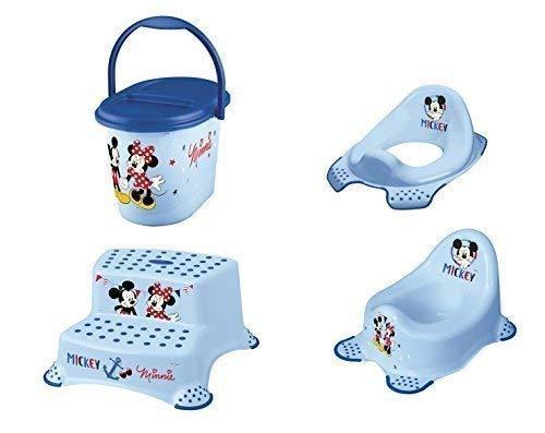 4er Set Z Disney Micky Maus : WC Aufsatz + Kindertopf + Hocker zweistufig +Windeleimer