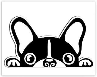 SkinoEu® 1 x vinyl självhäftande klistermärken tecknad rolig fransk bulldog laptop iPad bil fönster auto motorcykel hjälm ...