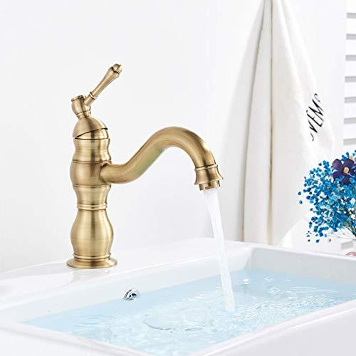 YHSGY Grifo De Baño Montado En Cubierta Grifos Para Lavabo De Agua Fría Y Caliente Grifos Cortos O Altos