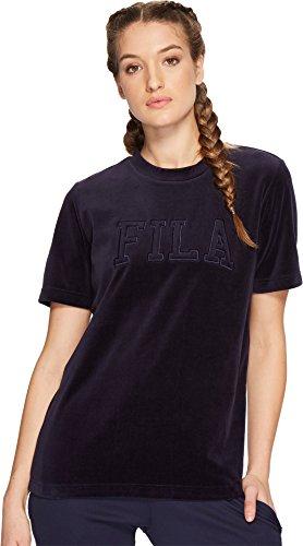 Fila Olivia Velour Tee Navy SM- Buy