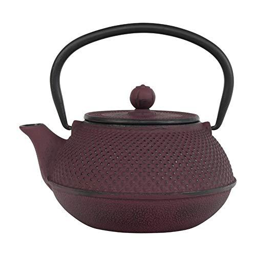 Tealøv theepot gietijzer 800 ml – gietijzeren theepot in Japanse stijl – gietijzeren theepot met zeef van roestvrij staal – uitstekende warmte-isolatie – duurzaam – Arare