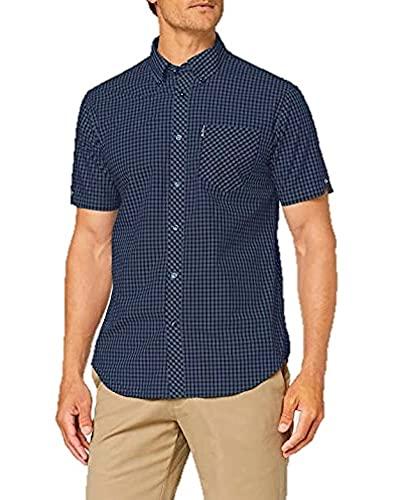 Ben Sherman SS Signature Core Gingham Camisa, Sea, XXL para Hombre